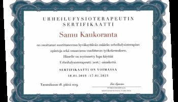 5-2021 Urheiluft sertifikaattikuva